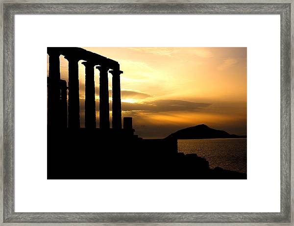 The Temple Framed Print