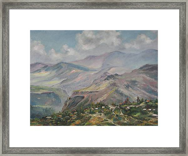 The Temple Of Haghpat Framed Print