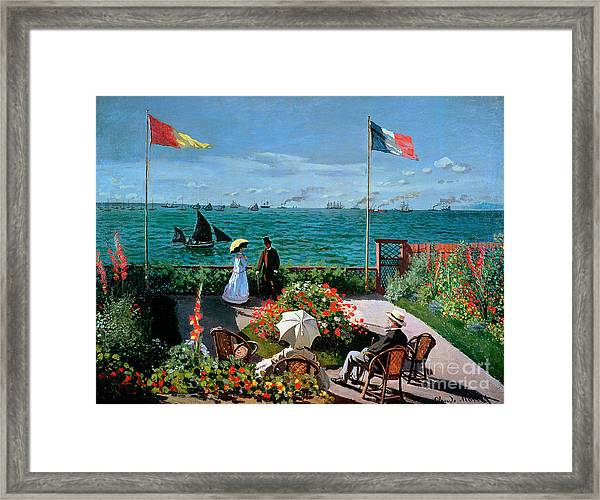 The Terrace At Sainte Adresse Framed Print