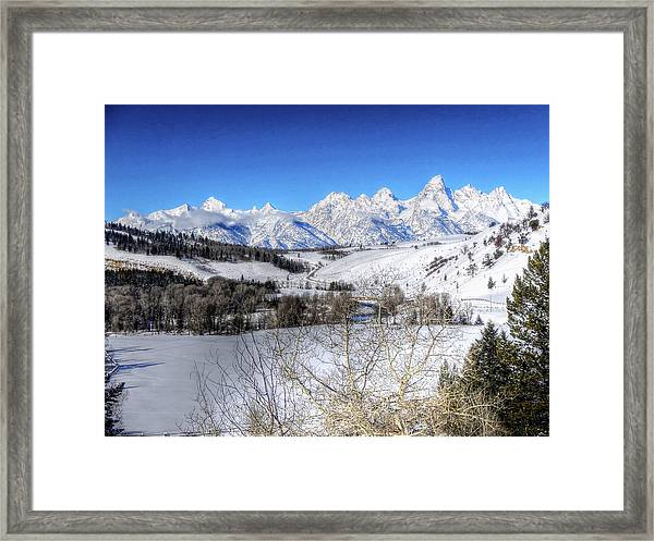 The Tetons From Gros Ventre Valley Framed Print