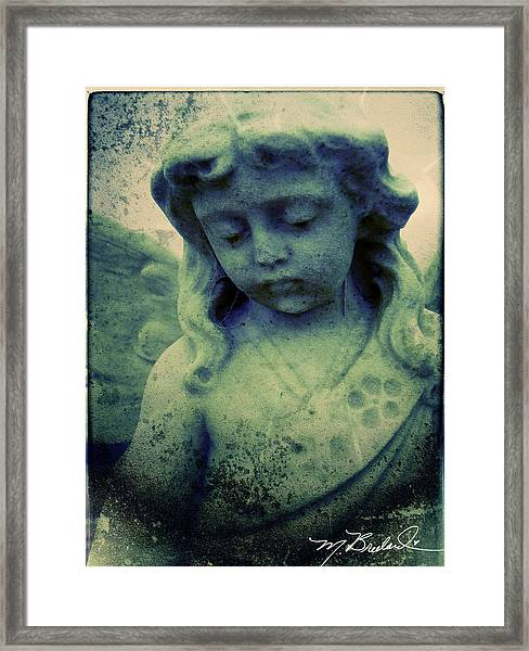 The Texture Of Sadness Framed Print by Melissa Wyatt