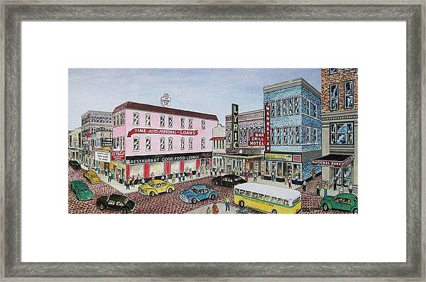 The Theater District Portsmouth Ohio 1948 Framed Print