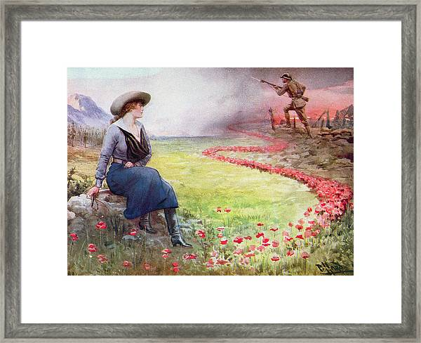 The Thin Red Line Framed Print
