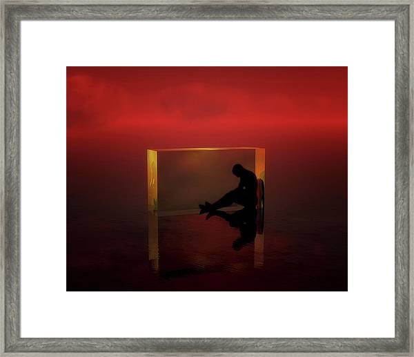 Framed Print featuring the mixed media The Thinker by Jan Keteleer