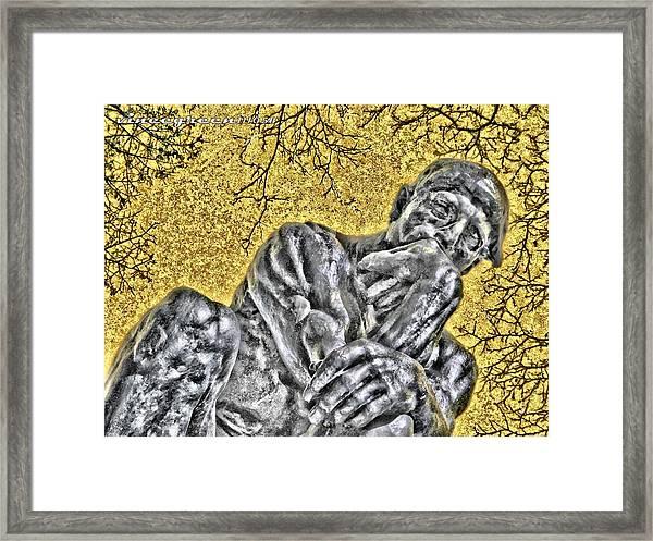 The Thinker - Study #1 Framed Print
