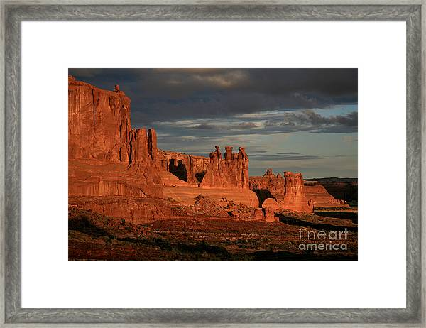 The Three Gossips And Sheeprock Framed Print
