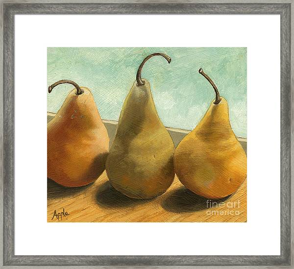 The Three Graces - Painting Framed Print by Linda Apple
