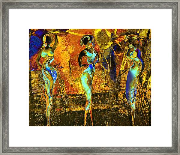 The Three Graces Framed Print by Anne Weirich