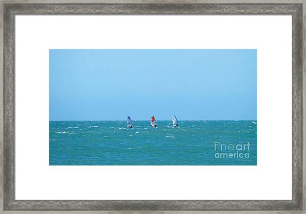 The Three Surfers Framed Print