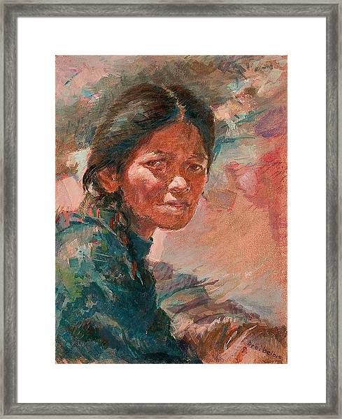 The Tibetan Girl Framed Print