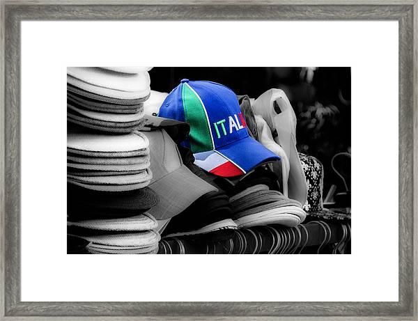 The Tifosi Cap Framed Print