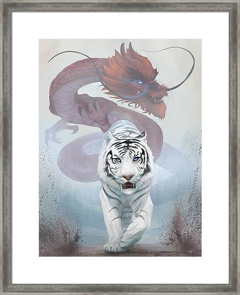 The Tiger And The Dragon Framed Print