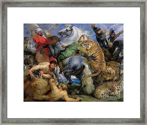 The Tiger Hunt Framed Print