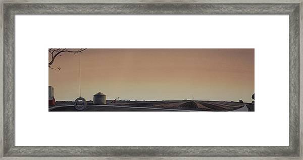 The Tire Swing Framed Print