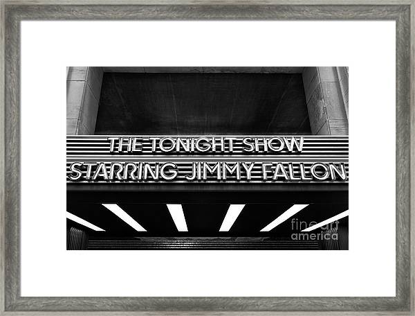 The Tonight Show Framed Print