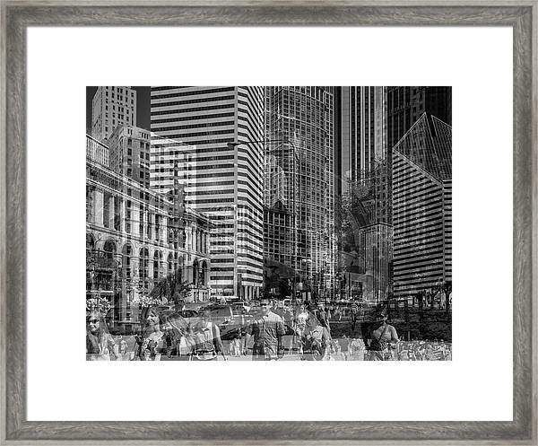 The Tourists - Chicago 03 Framed Print
