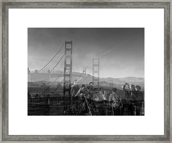 The Tourists - Golden Gate Framed Print