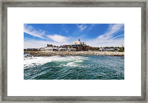 The Towers Of Narragansett  Framed Print