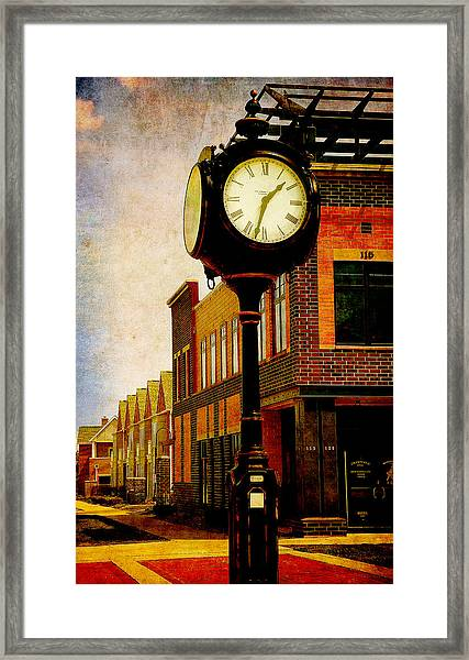 the Town Clock Framed Print