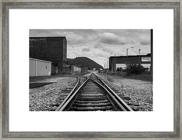 Framed Print featuring the photograph The Tracks by Break The Silhouette