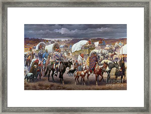 The Trail Of Tears Framed Print