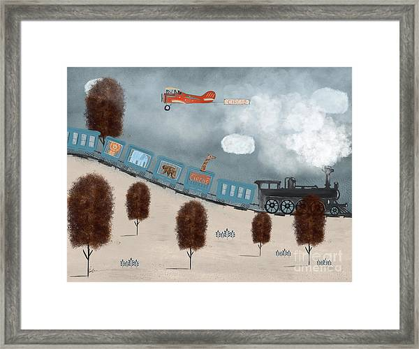 The Traveling Circus Framed Print