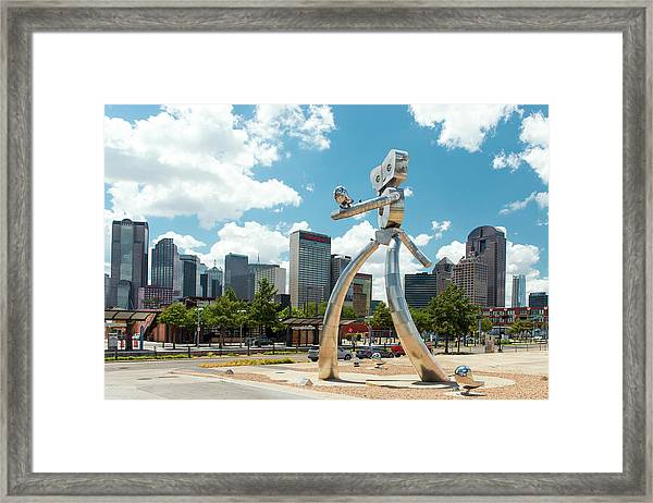 The Traveling Man Dallas 080618 Framed Print