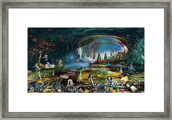 The Treasure Cave Of The Mermaids Framed Print