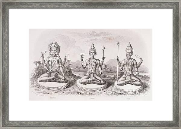 The Trimurti Or Hindu Trinity Framed Print