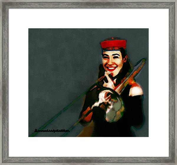 The Trombonist Painting Framed Print