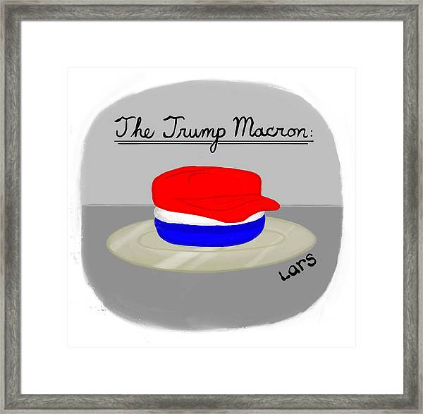 The Trump Macron Framed Print