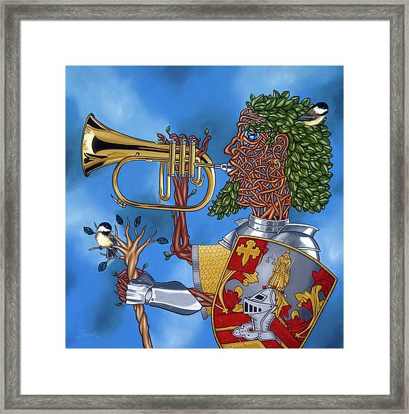 The Trumpiter Framed Print