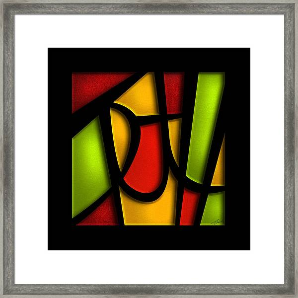 Framed Print featuring the mixed media The Truth - Abstract by Shevon Johnson