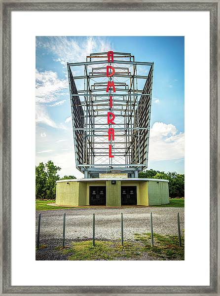 The Tulsa Admiral Twin Drive-in Framed Print