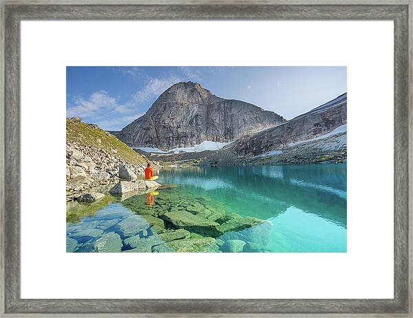 The Turquoise Lake Framed Print