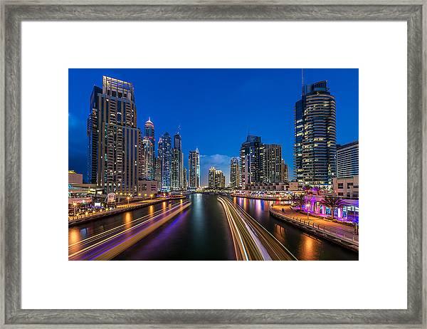 The Twilights Dubai Framed Print