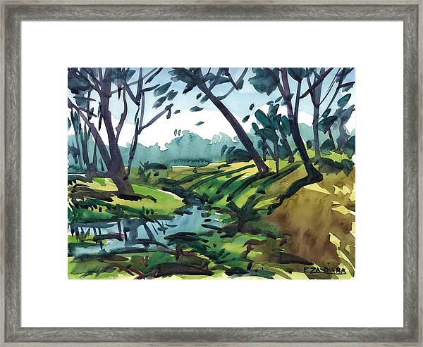 The Two Banks Of The River Framed Print