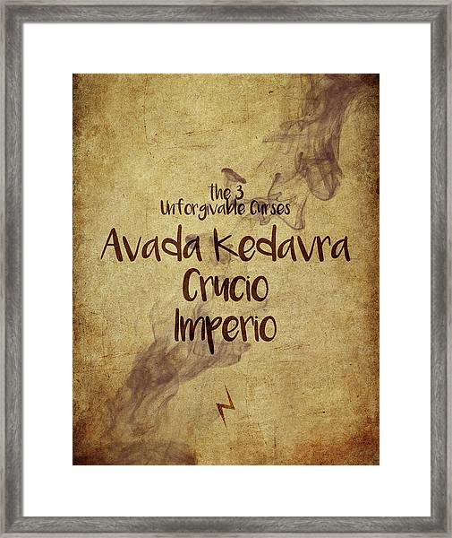 The Unforgivable Curses Framed Print