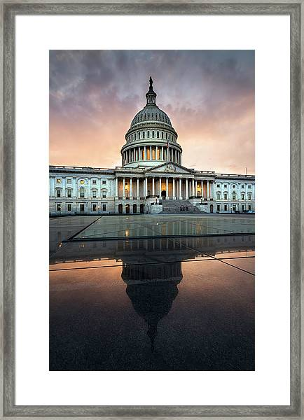 The Us Capital Framed Print