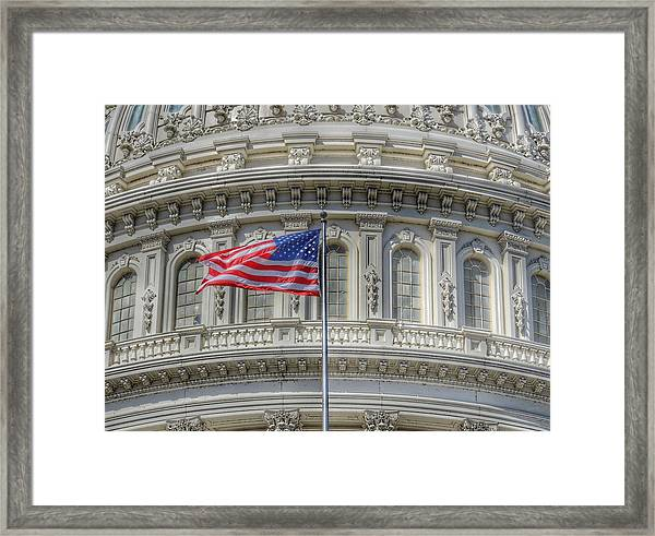 The Us Capitol Building - Washington D.c. Framed Print