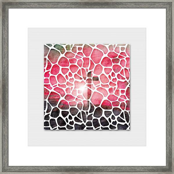 The Vail Is Upon Their Heart.  Framed Print