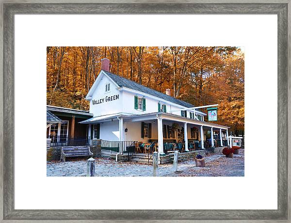 The Valley Green Inn In Autumn Framed Print