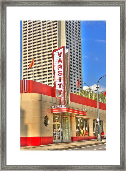 The Varsity Frontdoor Atlanta Georgia Landmark Art Framed Print