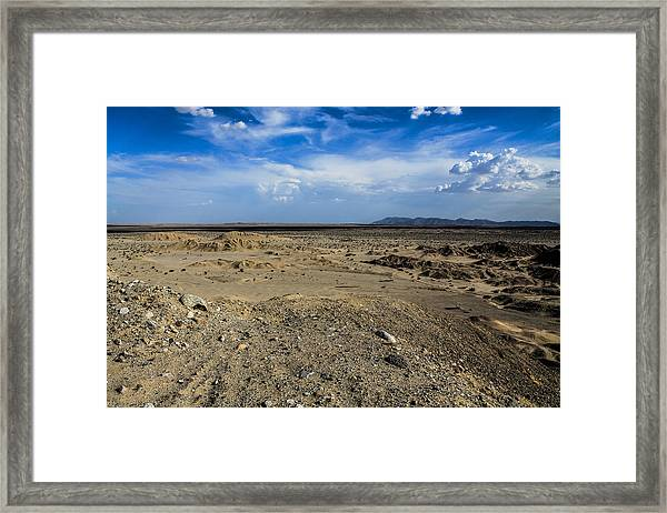 Framed Print featuring the photograph The Vastness by Break The Silhouette