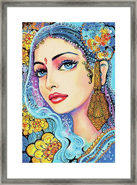 The Veil Of Aish Framed Print