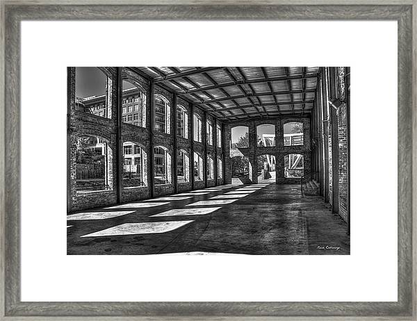 The Venue Bw Old Mill Wedding Venue Reedy River South Caroline Art Framed Print