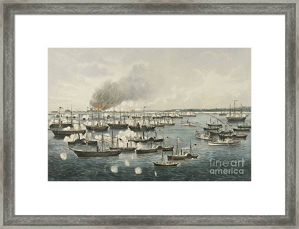 The Victorious Attack On Fort Fisher, 1865 Framed Print