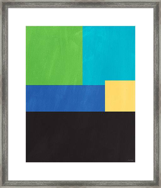 The View From Here- Modern Abstract Framed Print