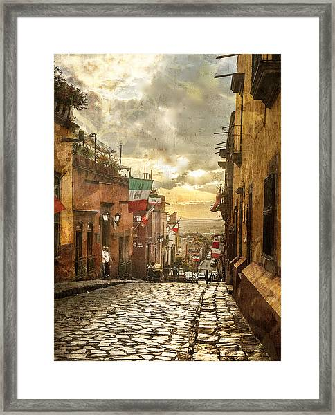 The View Looking Down Framed Print