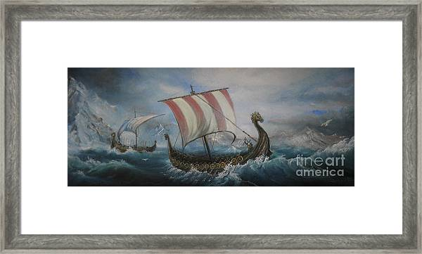 The Vikings Framed Print